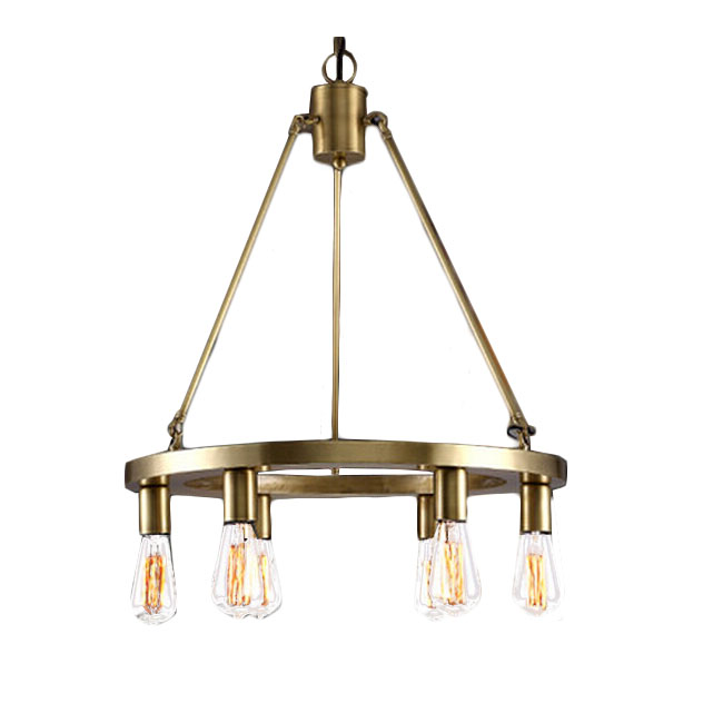 Modern Copper Ring and 6 bulbs Chandelier 11552