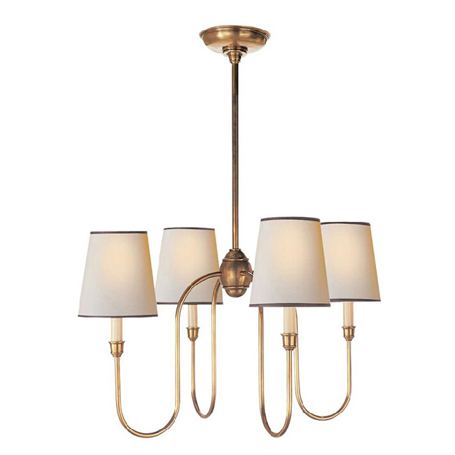Country Copper And Flax Shade Chandelier 11710