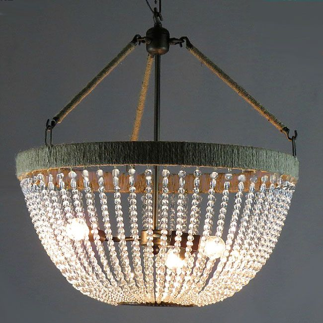 Antique Country and Hemp and Iron Art Crystal Chandelier 10568