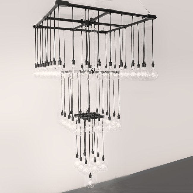 Repurposed Pipe Industrial Chandelier 12641