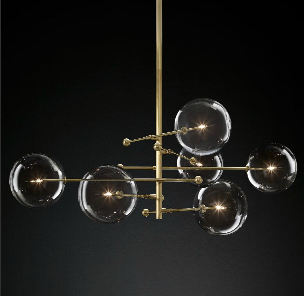 Blown Glass Globe Balance Chandelier 14175
