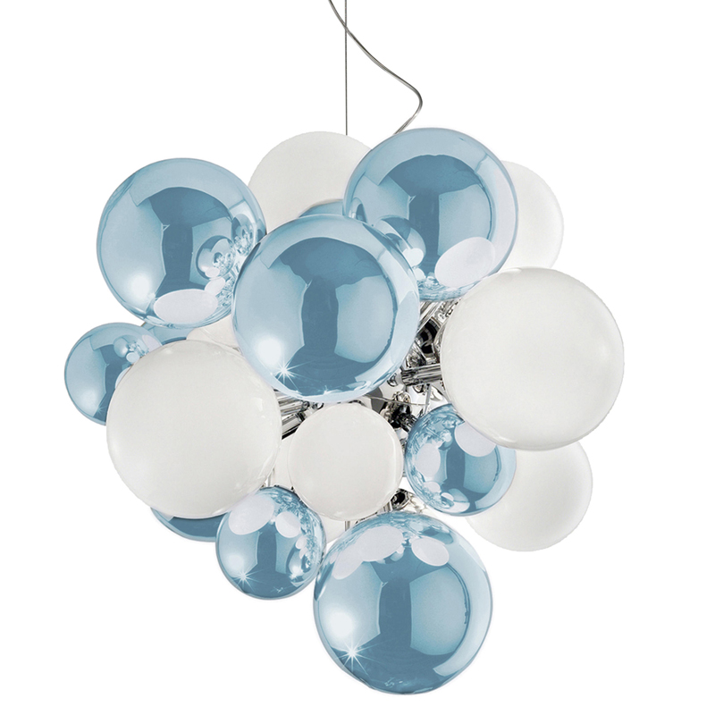 Emmanuel Babled mirrored skyblue Digit Chandelier 18428