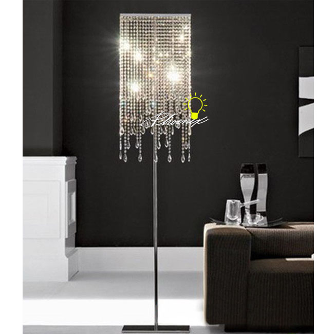 Crystal Floor Lamp in Chrome Finish 7709