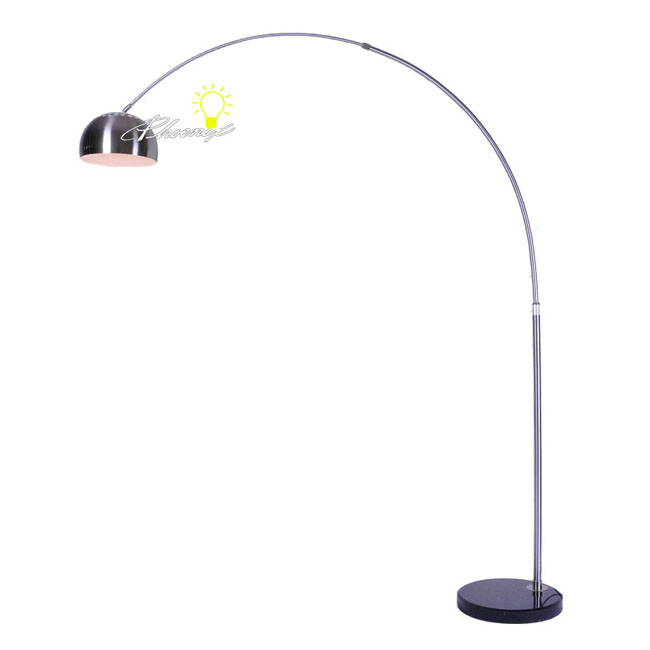 Tenuous Arm Floor Lamp in Stainless Finish 7806