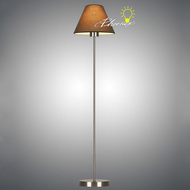 Modern Fabric Tall Arm Table Lamp in Chrom Finish 8361