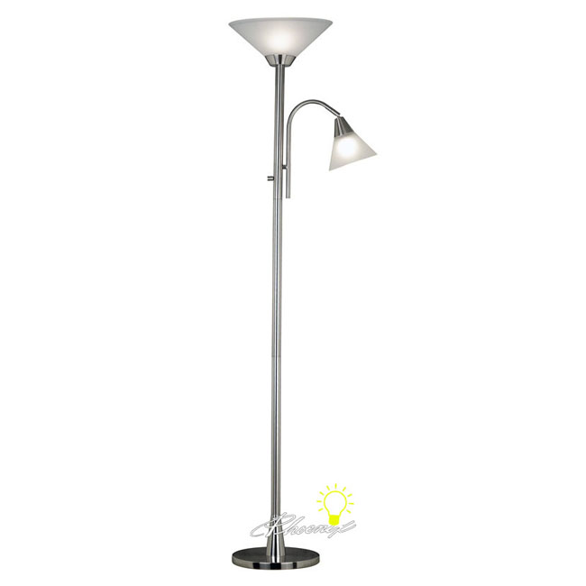 Modern Reading Floor Lampe in Chrome Finish 8608