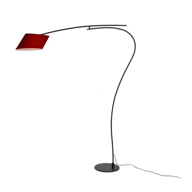 Modern Simple Metal and Fabric Shade Floor Lamp 9751