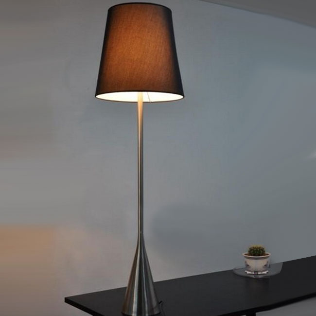 Modern Slim Metal and Fabric Shade Floor Lamp 10511
