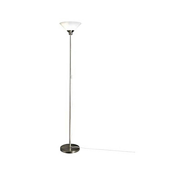IKEA Klooby Slid Rod and Blown Glass Shade Floor Lamp 10554