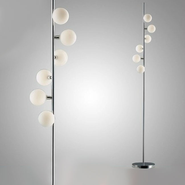 Modern Tumaz Glass Balls Floor Lamp 10806