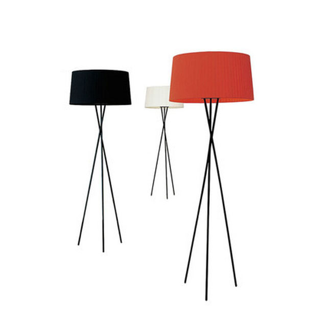 Modern Tripod And Fabric Shade Floor lamp 10875