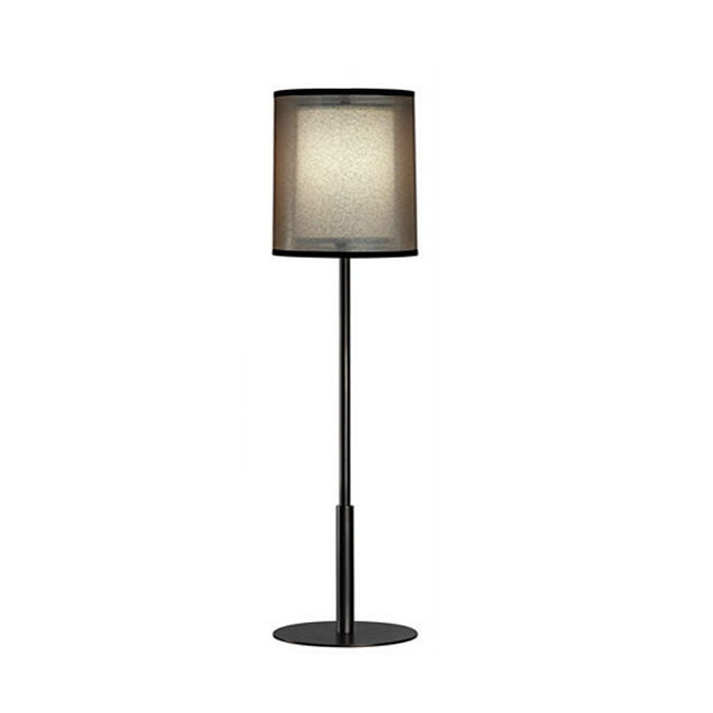 Post modern Black Gauze and Flax Shade Floor Lamp 11210