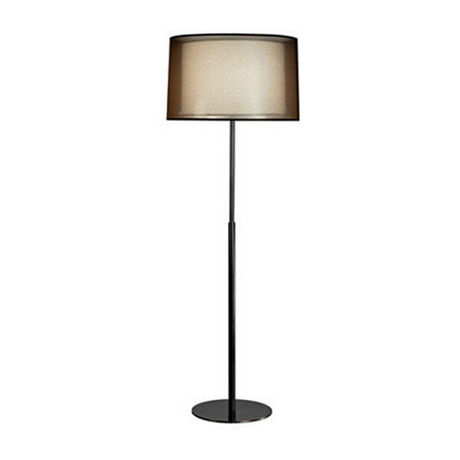 Post modern Black Gauze and Flax Shade Floor Lamp 11211