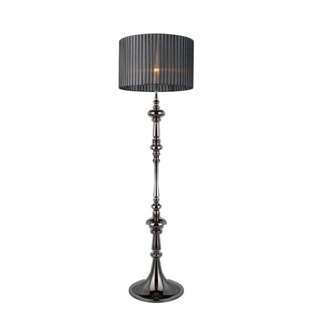 Modern Gauze Shade and Metal Pearl Floor Lamp 11235