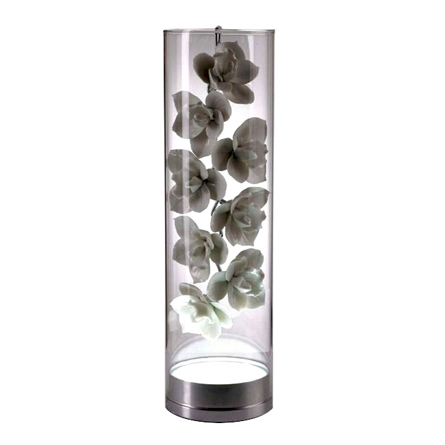 Modern Ceramic and Clear Glass Shade Table Lamp 11665