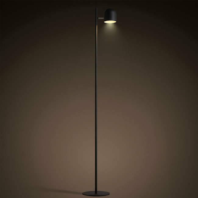 North Iron Long Arm LED Floor Lamp in Baking Finish 12031