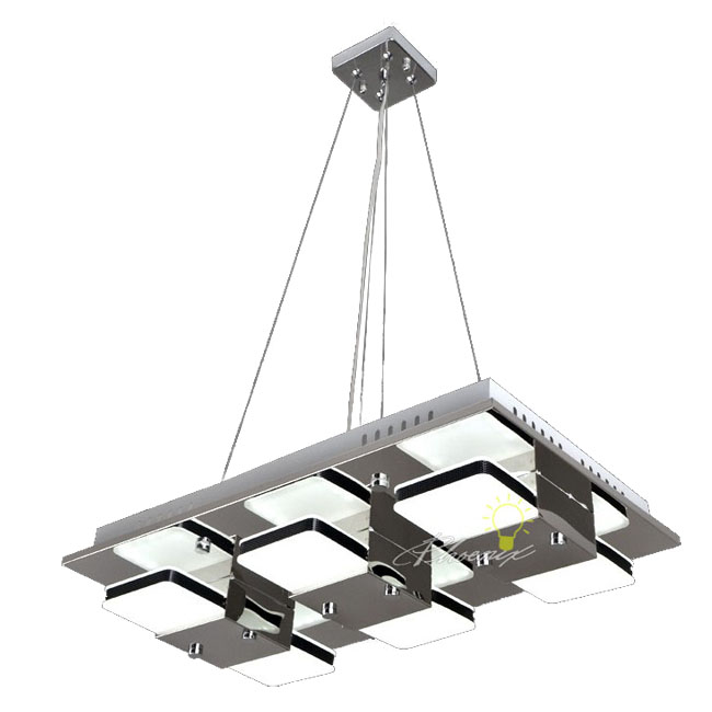Modern 6 LED Lights Pendant lighting in Chrome Finish 7662
