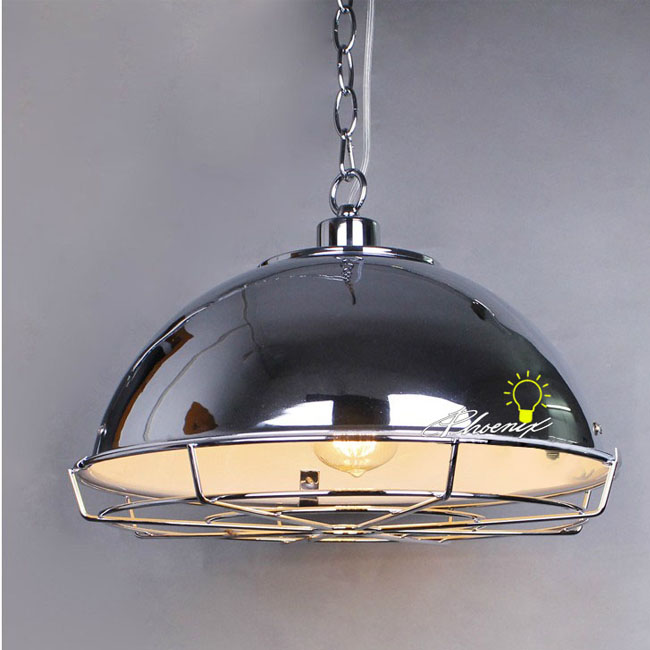 Loft Heavy Metal Pendant Lighting in Chrome Finish 8363