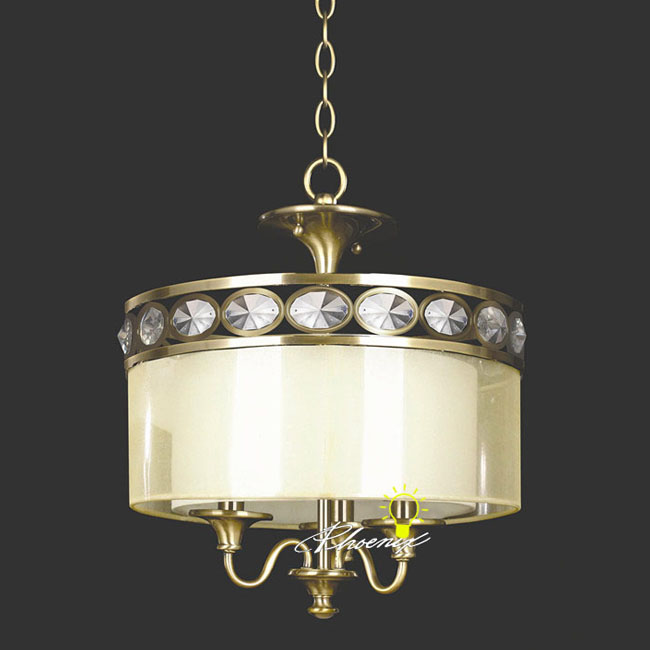 Antique Crystal and Fabric Recessed Lighting 8581