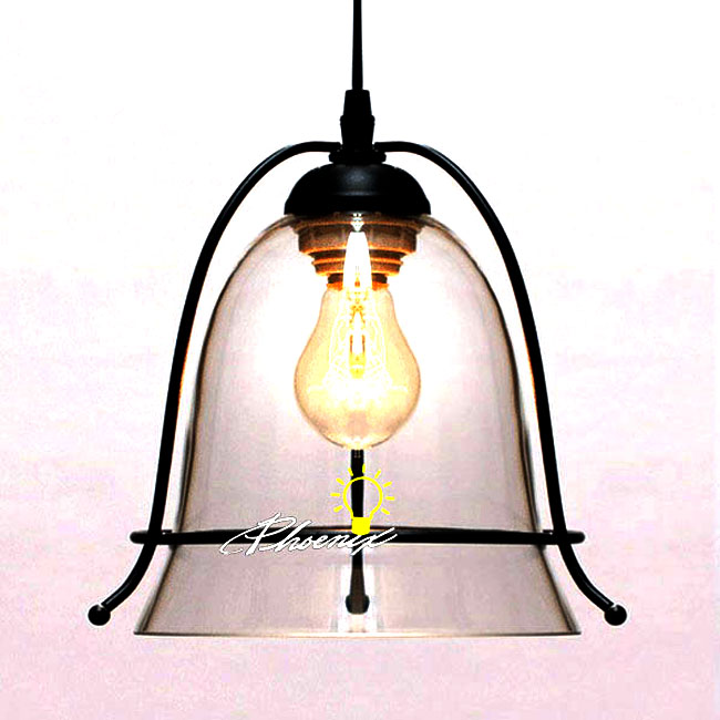 Antique Iron Art and Glass Shade Pendant Lighting 9041