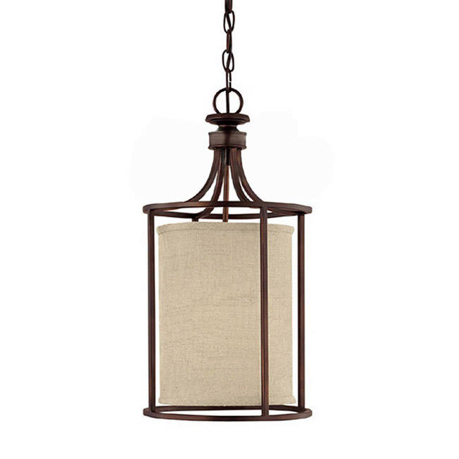 Antique Fabric and Iron Pendant Lighting 9104