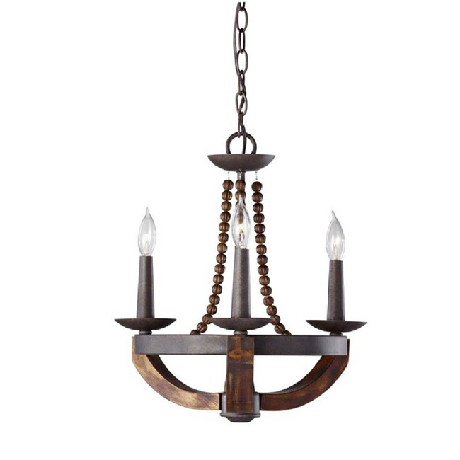 Antique wood and Iron Pendant Lighting 9111