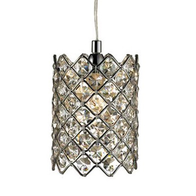 Modern Crystal Pendant Lighting in Chrome Finish 9311