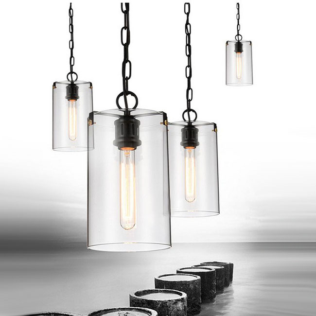 LOFT Iron And Clear Glass Pendant Lighting 9361