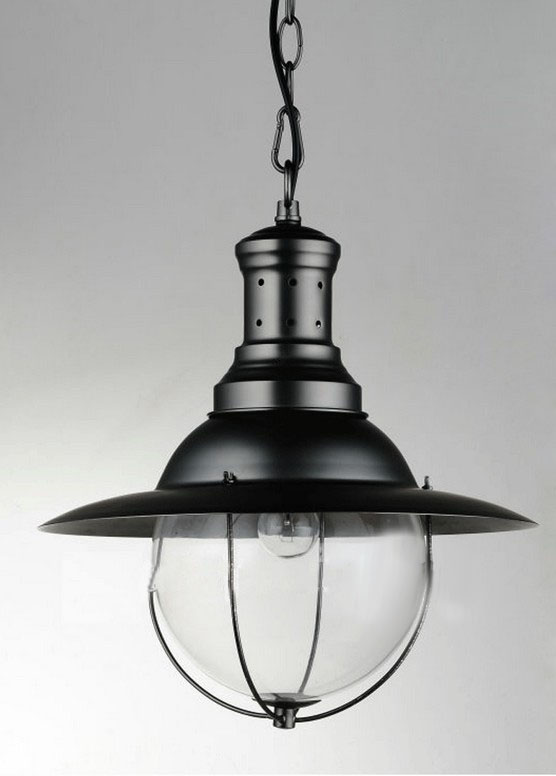 LOFT Black and Chrome Metal Pendant Lighting 9418