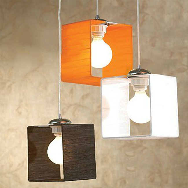 Modern 3 Little Fabric Shades Pendant Lighting 9440