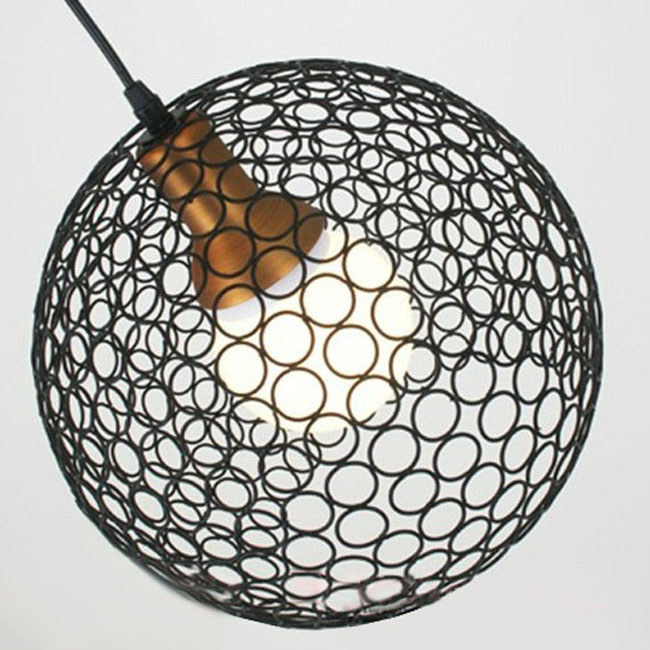 Modern Iron Ring Ball Pendant Lighting 9444