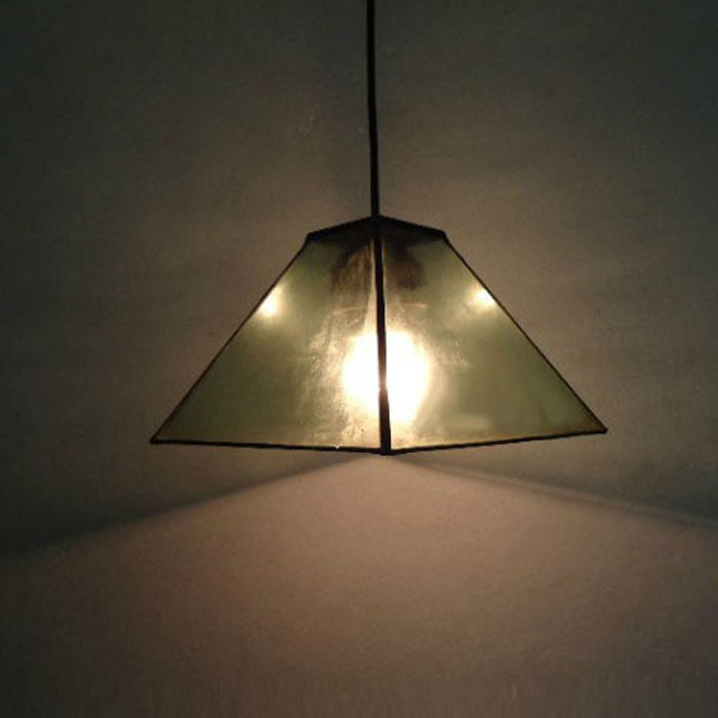 Antique Pyramidal Clear Glass Pendant Lighting 9466