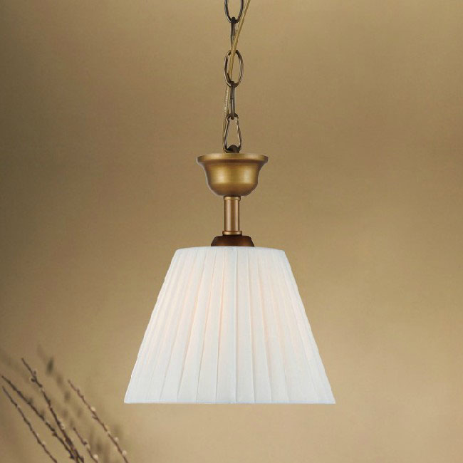 Antique Country Little Fabric Shade Pendant Lighting 9923