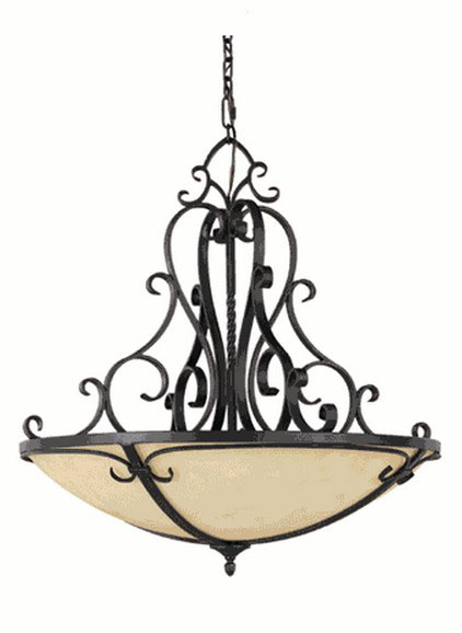 Antique Iron Art and Marble Shade Chandelier 9953