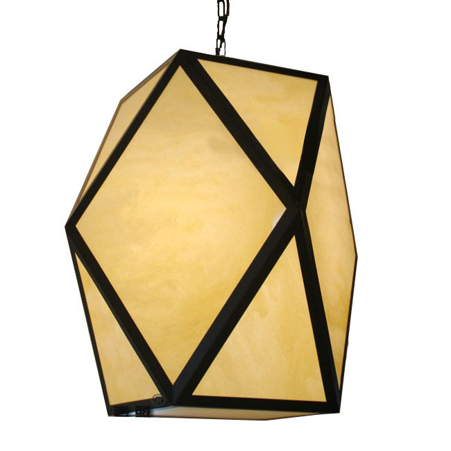 Antique Iron and Acrylic Shade Pendant Lighting 10028