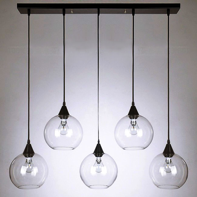 Modern Clear Glass Orbs Pendant Lighting 10095