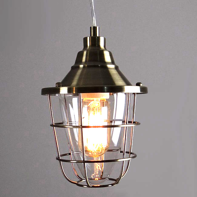 LOFT Clear Glass Explode-Proof Pendant Lighting 10295