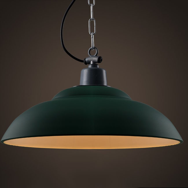 LOFT Industrial Olive Green Pendant Lighting 10375