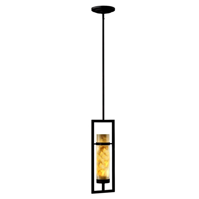 Antique 1 Marble Shade Iron Pendant Lighting 10376