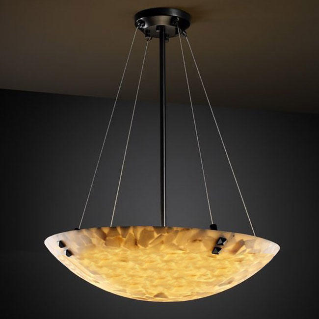 PHX Antique Marble And Iron Art Recessed Lighting 10383-3