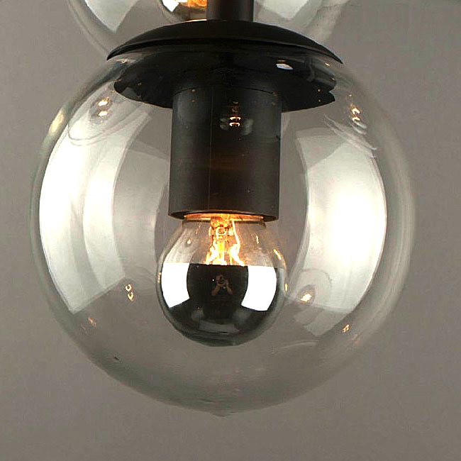 PHX Post Modern 5 Glass Orb Shades Pendant Lighting 10437