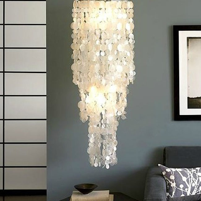 Long hanging Capiz Pendant Lighting 10438