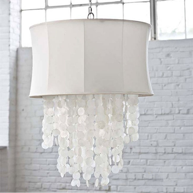 Post modern Flax And Hanging Shell Pendant Lighting 10444