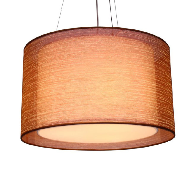 Modern Parchment Paper and Gauze Shade Pendant Lighting 10481