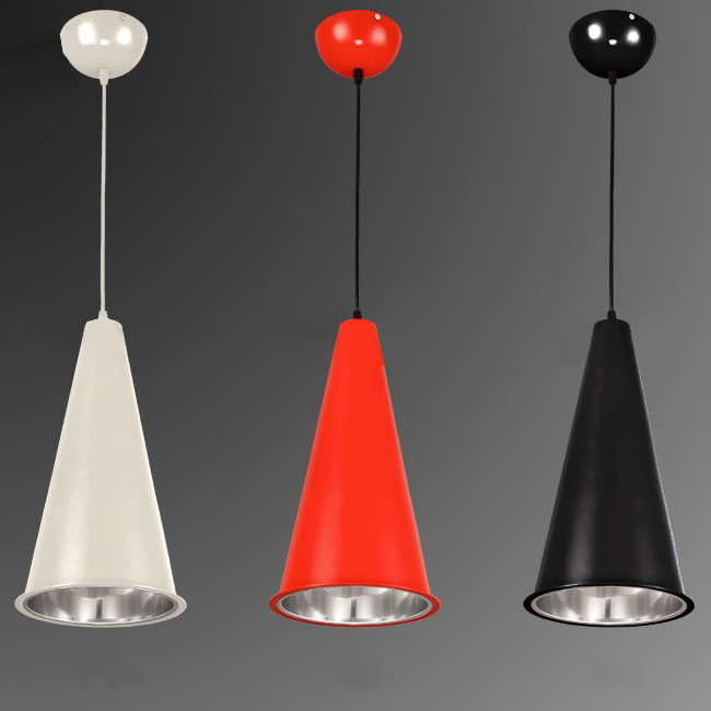 Modern Metal Conical Pendant Lighting in Plating Finish 10499