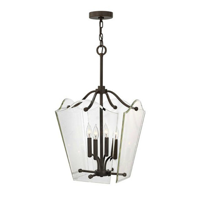 Country Clear Glass Shade Pendant Lighting in Plating Finish 105