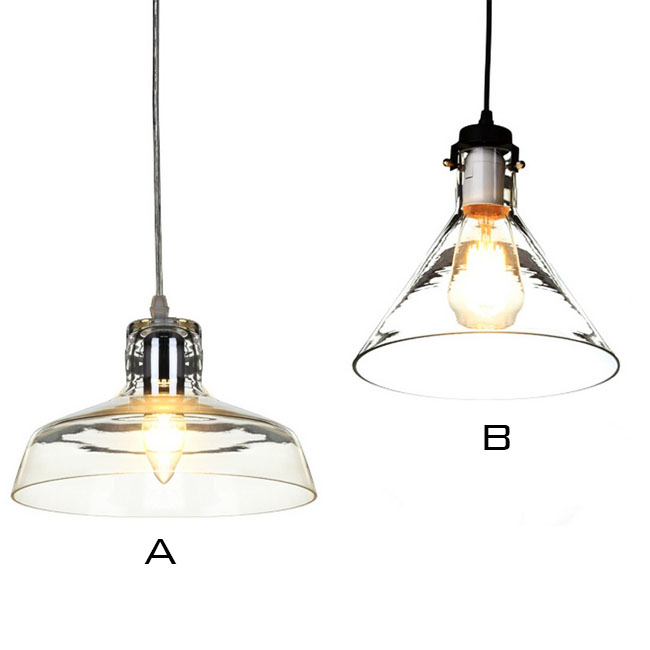 North Country Clear Glass and Aluminium Cap Pendant Lighting 105