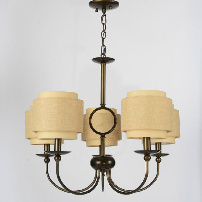 North Flax Shade and Iron Pendant Lighting in Baking Finish 1053