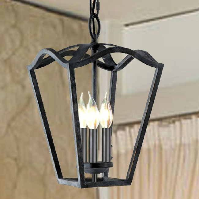 Antique Country Iorn Art 3 lights Pendant Lighting 10577
