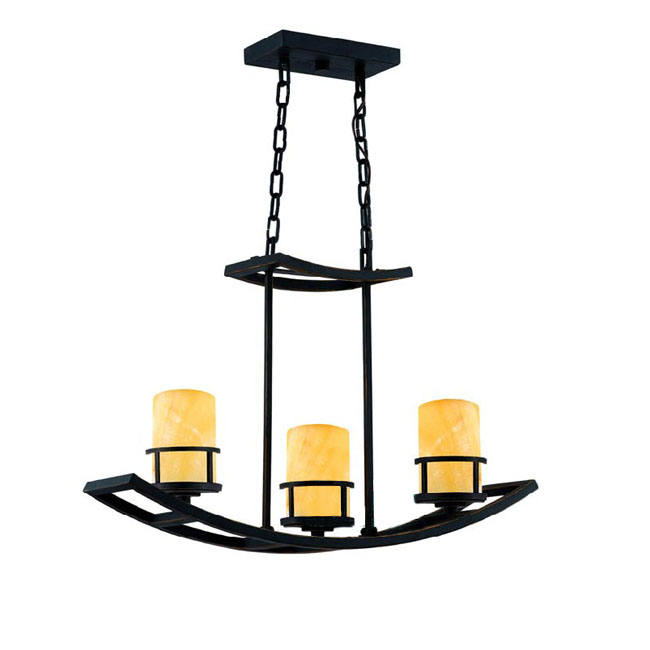 Country Iron and Marble Shade Pendant Lighting 10630-3